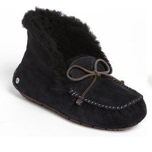 Black Ugg Alena Slipper Booties